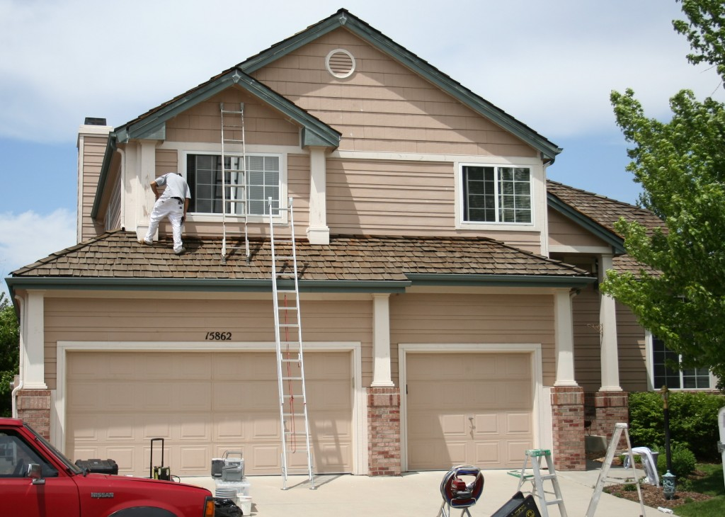 Exterior home painting in Parker image